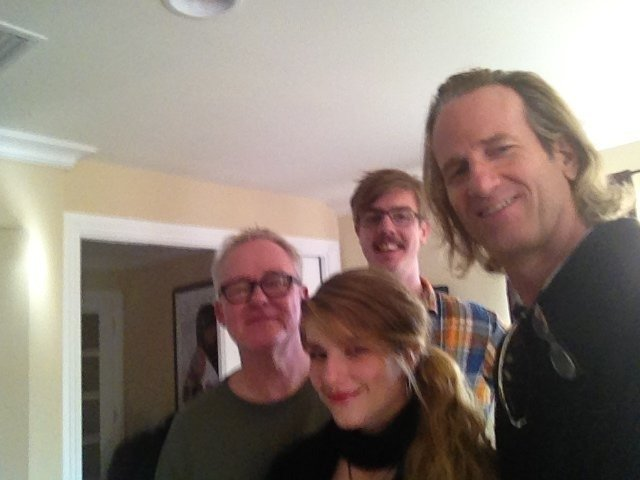 Tim Pierce recording with artist Katy Rose