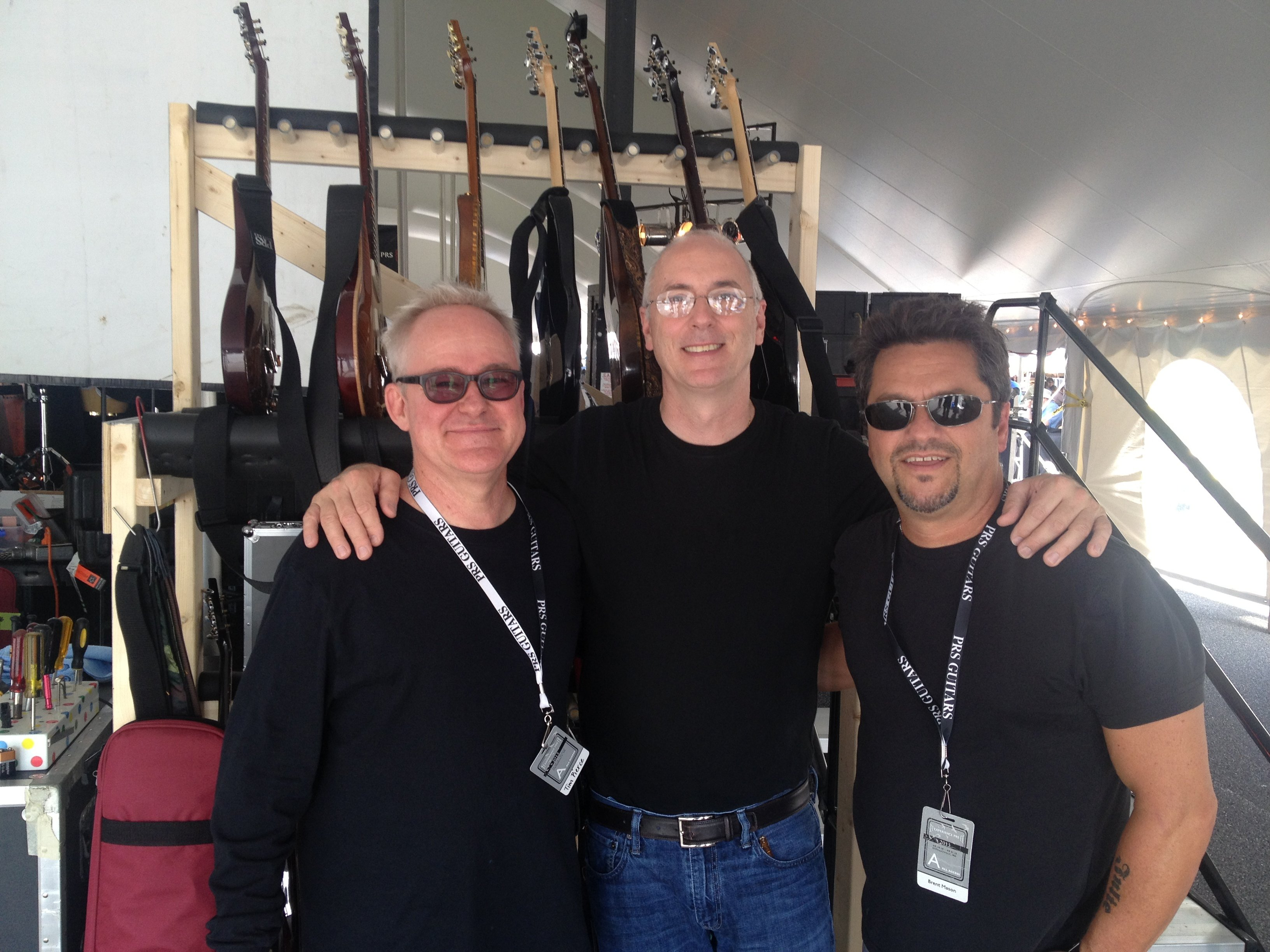 Tim Pierce, Paul Reed Smith and Brent Mason